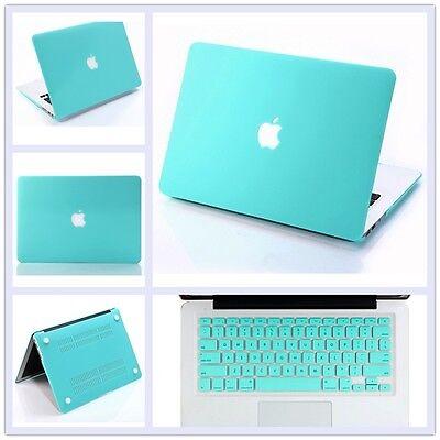 "Tiffany Blue Matt Hard Case+Keyboard Cover for Macbook Pro 13 15"" Air 11"" Retina"