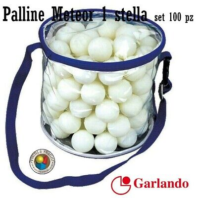 PALLINE DA PING PONG GARLANDO METEOR 1 stella SET 100 PZ.