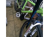 genesis core 30 dirt jump bike mountain bike with helmet and chain