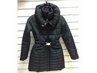 LADIES WOMENS LONG QUILTED PADDED PARKA JACKET WINTER COAT OUTWEAR BNWT