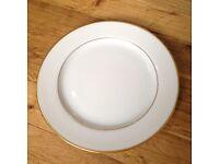 Christofle Dessert Plate China gold rim