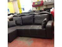 Neo corner sofa bed-faux leather-L shape- storage-very good quality- delivery available!