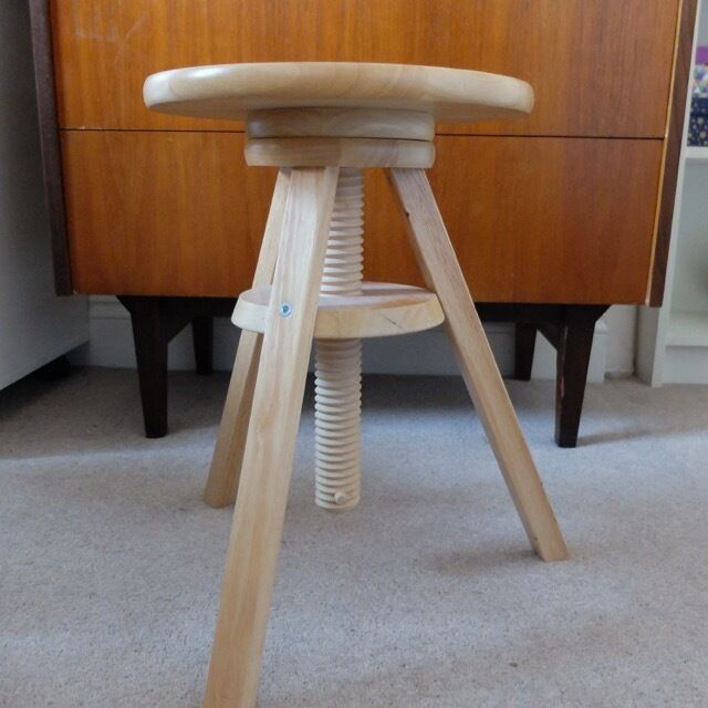 IKEA Svenerik Swivel Stool Height Adjustable Solid Wood  : 86 from www.gumtree.com size 640 x 640 jpeg 50kB