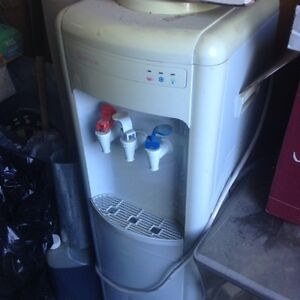 Water dispenser (hot & cold) with mini fridge