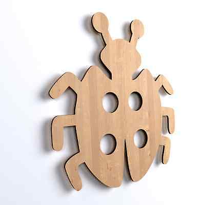 10x Marienkäfer Form Holz Basteln Dekoration Malen für Kinder Hängedeko (Y10)