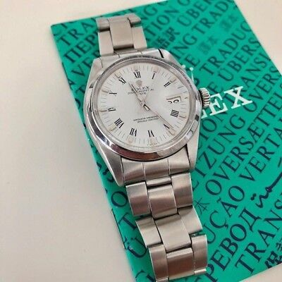 VINTAGE ROLEX 1500 Watch in stainless steel Movement 1570 oyster bracelet