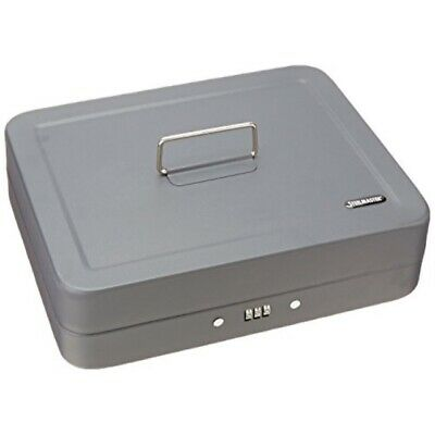 Steelmaster Cash Box With Combination Lock And Handle Gray 2216190g2