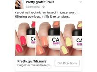Calgel nail overlays, infills & extensions