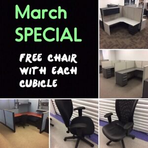 USED CUBICLE WORK STATIONS, SUPPLY, DELIVER, INSTALL NOW (O)