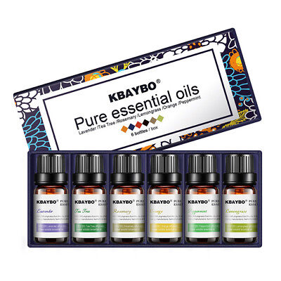 Pure Aromatherapy Essential Oil 6pcs/Set for Air Diffuser Ar