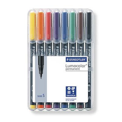 Staedtler Lumocolor Permanent SuperFine Universal Marker Pens Desktop 8 Pk