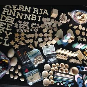 LARGE collection of Wood Craft Pieces  All shown
