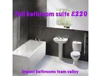 Full bathroom suite complete