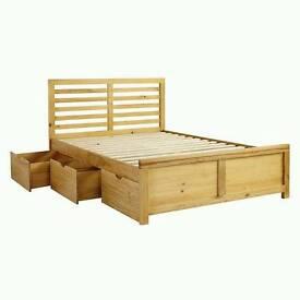 John lewis nevada storage bed 150cm not used