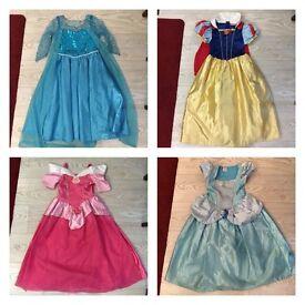 Disney Princess dress dresses 5-7 years Elsa frozen Snow White aurora sleeping beauty Cinderella