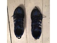 Men's Blue/Black Adidas trainers, size 8