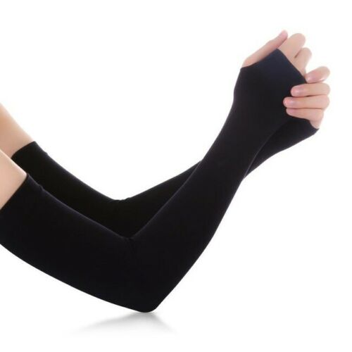 1 Pair Summer Ice Silk Sports Arm Warmers Covers Sun Protection NEW Arm, Knee & Leg Warmers