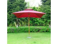 Outsunny 3m Large Square Cantilever Garden Parasol Sunshade