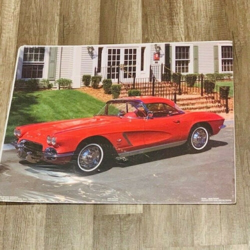 Corvette poster 1962 red fuel injection picture Gary Pesnell artist usa classic