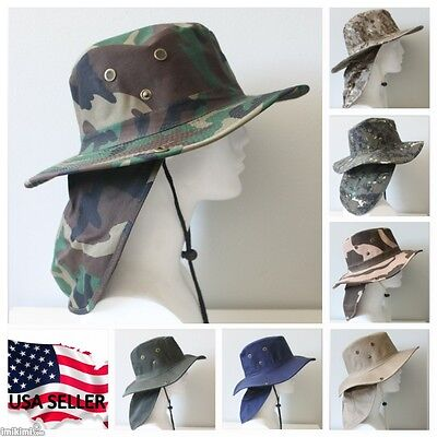 Camouflage Hunting Hat (Bucket Booney Mesh Hat Hunting Fishing Army Military Hiking Camping Camouflage  )