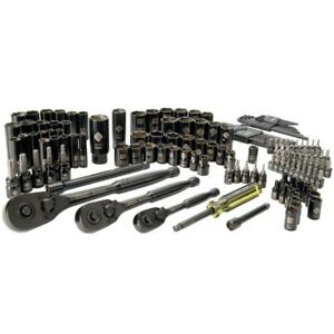 Stanley Black Chrome Socket Set 150pc