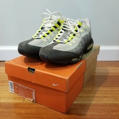 buy online 3fdbf ba42f VNDS Nike Air Max 95 Classic History of Air HOA Neon Yellow Grey 313111-071  Sz 9