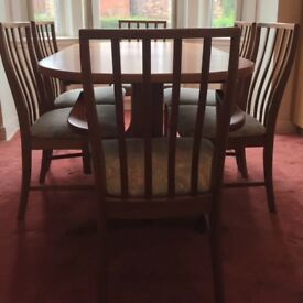 Vintage McIntosh extending dining table with chairs