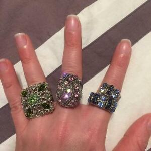 3 adjustable excellent condition rings!!