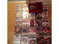 ps3 500gb super slim red 23 games 2 pads