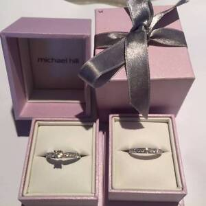 18 KT WHITE GOLD BRIDAL SET MICHAEL HILL BRAND NEW Scarborough Stirling Area Preview