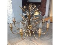 Vintage French Shabby Chic Ceiling Chandelier