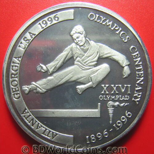 1996 TANZANIA 2000 SHILINGI ERROR ALUMINUM PROOF TAEKWONDO MINT=25 COINS! PLAIN