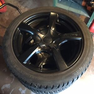 BMW Aluminum After-Market Rims & Winter Tires (17 in)