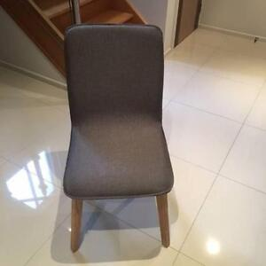 Fabric Dining Chairs Solid Oak Frame In Dark Grey - BRAND NEW Cheltenham Charles Sturt Area Preview