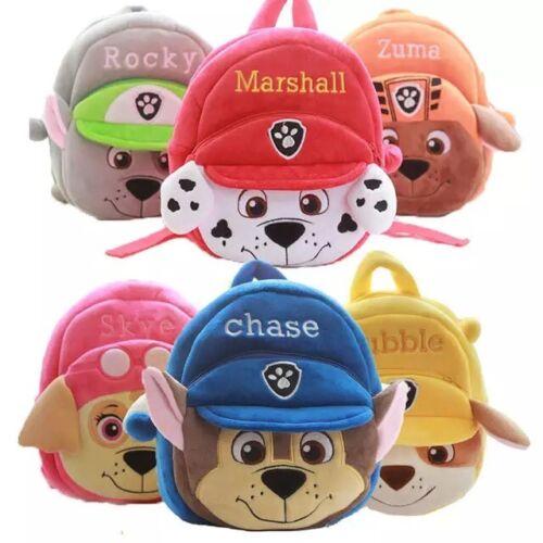 Paw Patrol Cute Dog Cartoon Plush Backpack for little kids