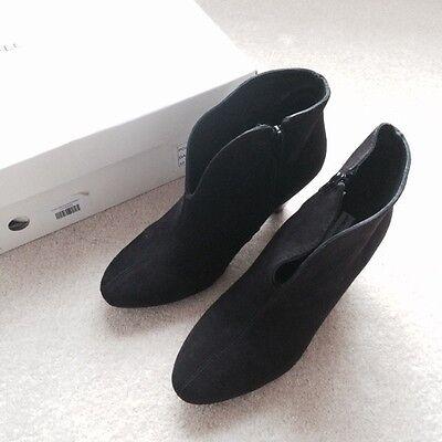 Jean-Louis Scherrer Black Suede Boots UK4