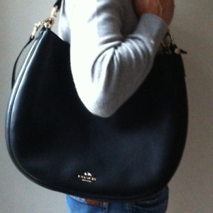 COACH ~ Black leather HOBO bag. As new