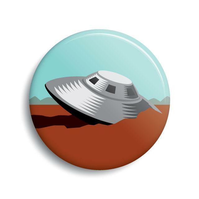 Roswell UFO Crash button