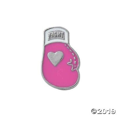 12 Pink Ribbon Breast Cancer Awareness Boxing Glove Pins FUN RAISER Party - Breast Cancer Awareness Favors