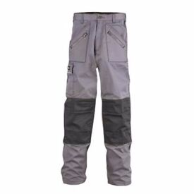 "SITE TERRIER TROUSERS GREY/BLACK W38"" L32"""