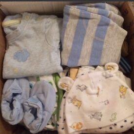 Large 0-3 Months baby boy clothes bundle