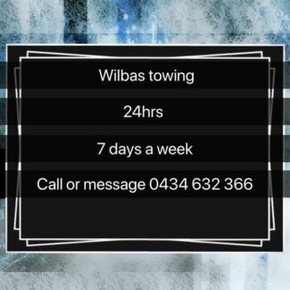 Wilbas towing service