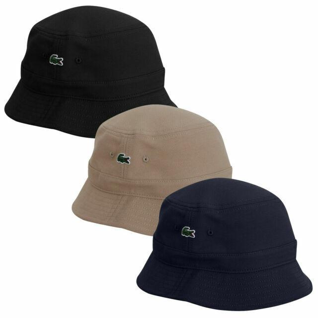 Lacoste Men/'s Pique Cotton Cap Hat Black