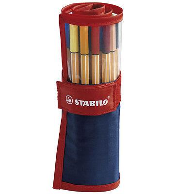 Stabilo Point 88 Fineliner Pens Rollerset Of 25 Assorted