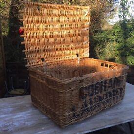 Vintage laundry basket cobham guildford