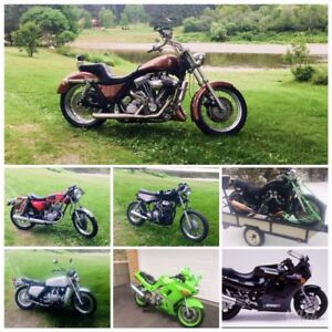 Motos de collection a vendre