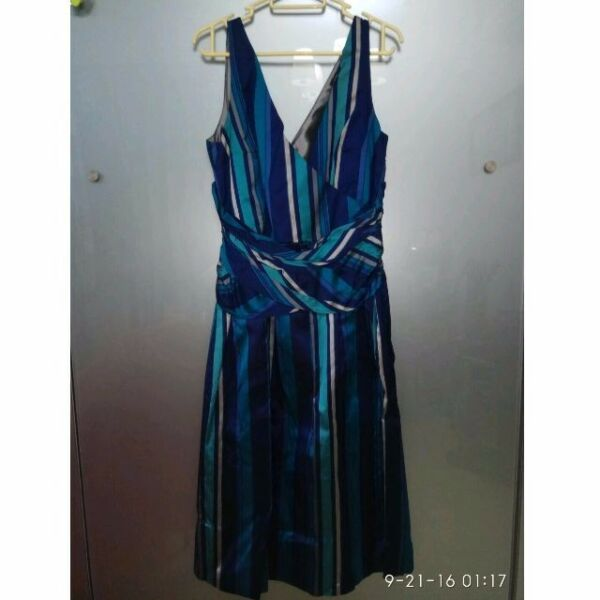 New TRUCCO Dress in Fine Satin Fabric - Turquoise (size 42)