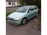 Vauxhall Corsa 1.4i 3 door hatchback. Y reg 2001. 114,000 miles. Cheap PX to clear