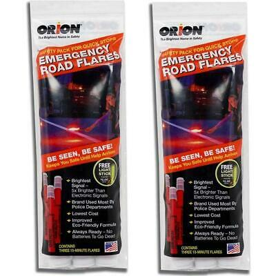 ORION Safety 15 Minute Road Flares 2 Pack Set 3153-012A