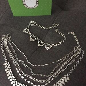 Stella and Dot 5 in 1 Silver  'Sutton' Necklace HALF OFF RETAIL